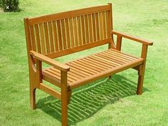 Trueshopping Convenient Folding Foldaway Two Seat Keruing Hardwood Wooden Bench Chair Outdoor Furniture Plans, Lawn Furniture, Wooden Pallet Furniture, Hardwood Furniture, Furniture Design, Wood Patio Chairs, Wooden Garden Benches, Cool Woodworking Projects, Woodworking Furniture