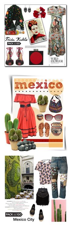 """""""Winners for Pack and Go: Mexico City"""" by polyvore ❤ liked on Polyvore featuring Jean-Paul Gaultier, Charlotte Olympia, NOVICA, FRIDA, Les Petits Joueurs, polyvorecontest, Packandgo, polyvoreditorial, ASOS and Yves Saint Laurent"""