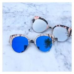3bae581091077 Accessories - Just In- Marble Cat Eye Sunglasses Rose Gold Mirrored  Sunglasses