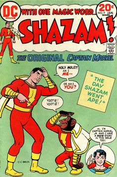 Shazam n°9, January 1974, cover by CC Beck---great fun when Capt. Marvel was done right!