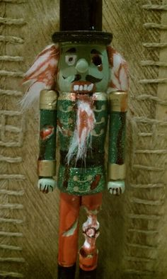 Zombie Nutcracker by SpookShowStudios on Etsy, $10.00 That's the bomb, I have to have one! Lol