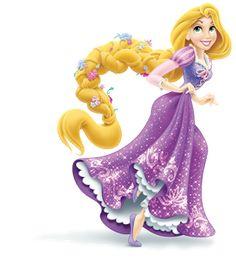 Rapunzel con una bella trenza