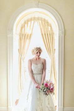 Dress by San Patrick via Always and Forever Bridal. Photo by Paper Antler (via Style Me Pretty).