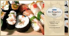 Art of Rolling Sushi - Workshop at The Collection @ UB City on 26 August 2015 | Events in Bangalore / Bengaluru | mallsmarket.com