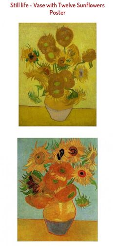 Still life - Vase with Twelve Sunflowers Poster - tap to personalize and get yours #Poster #vangoghpaintings #van #still #life #vase Painting Frames, Painting Prints, Painting Art, Vase With Twelve Sunflowers, Canvas Wall Art, Canvas Prints, Big Canvas, Van Gogh Paintings, Vincent Van Gogh