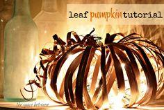 DIY Halloween : DIY fall craft {pumpkin} Looks cool Fall Pumpkin Crafts, Diy Pumpkin, Fall Crafts, Holiday Crafts, Holiday Decor, Pumpkin Boo, Holiday Style, Kids Crafts, Holiday Fun