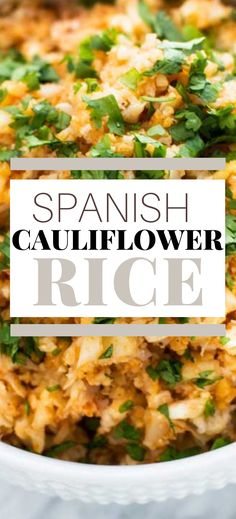 This Easy Spanish Cauliflower Rice is a quick side dish that perfect for a healthy diet. It is just the right match for tacos, enchiladas, or grilled chicken. No surprise, this recipe has become a year-round staple in my side dish repertoire. It is low carb, keto, dairy free, and gluten-free. Gluten Free Recipes For Breakfast, Healthy Gluten Free Recipes, Healthy Recipes For Weight Loss, Veggie Recipes, Healthy Dinner Recipes, Easy Recipes, Keto Recipes, Vegetarian Recipes, Easy Vegetable Side Dishes