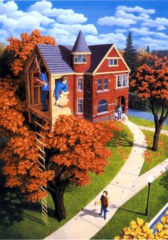25 Fantastic Optical Illusion Art works and Paintings by Rob Gonsalves