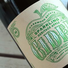 Cider label design