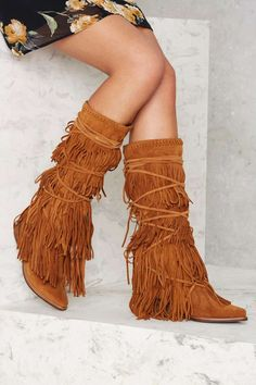 Jeffrey Campbell Esconder Fringe Suede Boot | Shop Shoes at Nasty Gal!