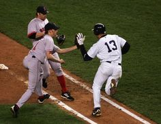 Slaps Ball Out of Bronson Arroyo's Glove in ALCS (2004)