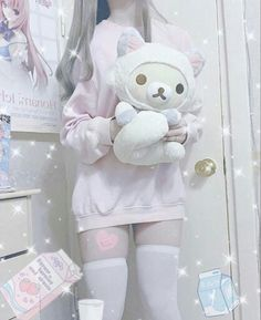 Baby Pink Aesthetic, Daddy Aesthetic, Aesthetic Clothes, Mode Kawaii, Kawaii Goth, Kawaii Fashion, Cute Fashion, Ropa Color Pastel, Daddys Girl