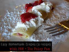 Easy Homemade Crepes - The Foley Fam Blog #PAMSmartTips #ad