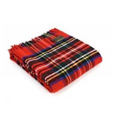 Royal Stewart Tartan Knee Rug in Pure New Wool . . Sold by TartanPlusTweed.com A family owned kilt and gift shop in the Scottish Borders