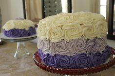 Ombré layered cake