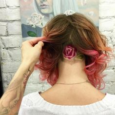 St. Petersburg-based hair artist Aliya Askarova is adding her own style to the mix, in which she shaves hidden illustrations on the back of her clients' heads.