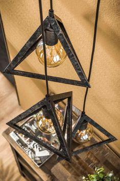 Vintage Industrial Furniture, Metal Furniture, Wood Pendant Light, Pendant Lamp, Ceiling Shower Head, Lampe Metal, Beton Design, Home Lighting Design, Home Design Floor Plans