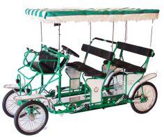 Surrey bike, Surrey cycles, four wheel bikes, 4 person bicycle, 2 person bicycle, disney surrey, ciclofan, sirenetta, delfino, wheel fun