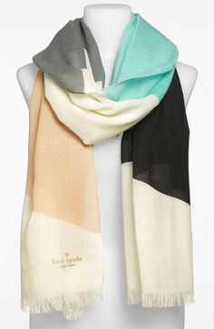 kate spade new york 'abstract bow' wool scarf available at #Nordstrom