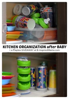 How to organize your kitchen after baby.