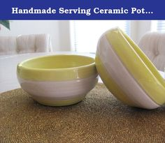 Handmade Serving Ceramic Pottery Bowls Soup Bowls Cereal Bowls Stoneware Dinnerware. These two bowls are sold as a set. They are made with stoneware pottery clay and food safe glazes. You can use these serving bowls in the dishwasher, microwave and oven with care. These wheel thrown bowls measure about 5.5 inches wide and 2 inches tall.