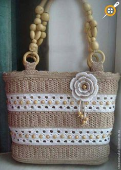 All Srticken: The most beautiful crochet bag models . - All Srticken: The most beautiful crochet bag models -Bolso tejido Discover thousands of images about Crochet bagCrochet Tote with Pony BeadsIf you want to get my handmade bags with linen ethamin Crochet Tote, Crochet Handbags, Crochet Purses, Free Crochet, Handmade Handbags, Handmade Bags, Macrame Bag, Knitted Bags, Crochet Accessories