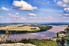 Petit Jean State Park: Arkansas River View - Encyclopedia of Arkansas Beautiful Scenery, Beautiful Landscapes, Petit Jean State Park, First Nations, Im In Love, Waterfalls, Arkansas, State Parks, Places To Go