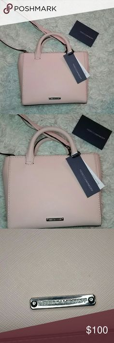 """NWT REBECCA MINKOFF MINI BAG Beautiful tiny purse in pantone color of the season : ballet slipper! NWT ( does not have duster bag or plastic on zipper - was a buy here on poshmark for a special event, the event got cancelled and being a Mom to a 2 year old boy I just won't be able to get the use out of this beautiful bag as anticipated! ) perfrct little bag! 7"""" tall 8"""" wide.removable long strap. Magnetic clasp closure! Rebecca Minkoff Bags"""