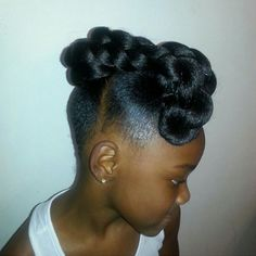Little Black Girls Hairstyles : updo hairstyles for little girls updo hairstyles for little girls Sharing is caring, don't forget to share ! Lil Girl Hairstyles, Girls Natural Hairstyles, Kids Braided Hairstyles, Natural Hair Styles, Short Hair Styles, Children Hairstyles, Birthday Hairstyles, Toddler Hairstyles, Baddie Hairstyles