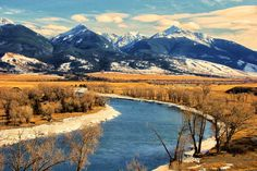 The view from the Mallard's Roost in Paradise Valley, Montana. Phot by Jeff R Clow / Getty Images.