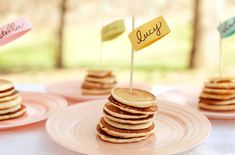 a stack of mini pancakes