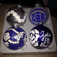Zeta Phi Beta Ornaments by SoloCreACEtions on Etsy, $18.00