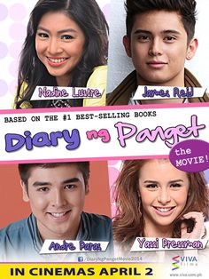 Catch your favorite Artists James Reid, Andre Paras and Yasi Pressman at the Diary ng Panget Mall Show tomorrow.March 2014 at the Cyberzone of SM City Sta. James Reid, Nadine Lustre, Drama Film, Drama Movies, Viva Film, Watch Drama Online, Yassi Pressman, Pinoy Movies, Movie Schedule