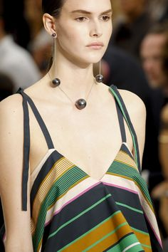 Spring Accessories Trends - Shoulder  Duster Earrings - Salvatore Ferragamo