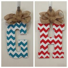 Chevron door hangers