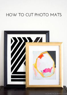 How to Cut Photo Mats - Homey Oh My!
