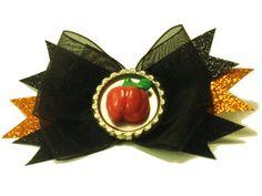 Sculpted Pumpkin Hair bow, $5 + shipping.