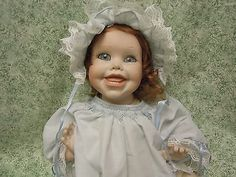 "CINDY MARSCHNER  'Tippy""- porcelain/cloth reproduction doll   cp-370"
