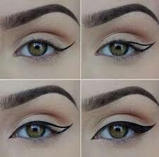 How to draw perfect eyeliner wings