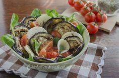 insalata di melanzane grigliate con formaggio e pomodorini ricetta piatto unico estivo leggero dieta