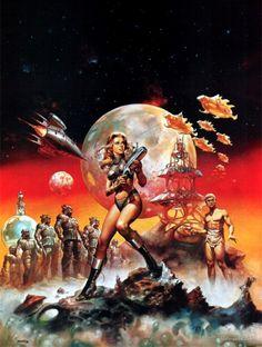 Barbarella artwork by Boris Vallejo Boris Vallejo, Arte Sci Fi, Sci Fi Art, Art Pulp, Art Science Fiction, Drawn Art, Arte Tribal, Arte Cyberpunk, Fantasy Art Women
