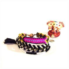 Friendship Bracelet - Bracelet with Tassel -hippie pendant on Etsy, ฿533.00