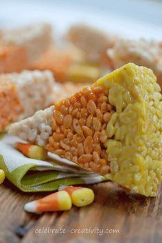 Candy corn Rice Krispie Treats!!