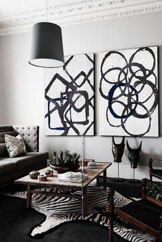 Large Canvas Art Online - Wall Art Painting On Canvas : Black + White - Collections Abstract Art Contemporary Art Minimalist Art Large Canvas Art, Diy Canvas Art, Diy Wall Art, Home Wall Art, Black And White Painting, Black And White Abstract, Winter Home Decor, Fall Decor, Mid Century Art