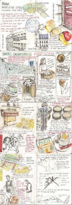 Alissa Duke -  Sketchbook Project Travelogue: Paris 2007        https://www.flickr.com/photos/alissaduke/sets/72157631061711682/with/7874834440/