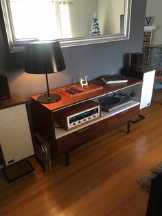 KLH Model 6 speakers Marantz 2230b Turntable Setup, Audio Rack, Record Cabinet, Vinyl Room, Home Decor Furniture, Decoration, Interior Design, Record Player, Living Rooms