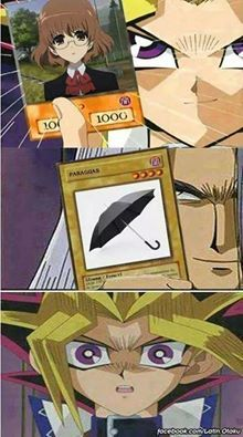 Be aware of the umbrella xD  Yugi-Oh! and Another