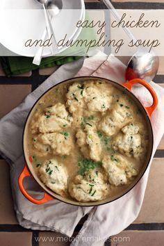 Easy Chicken and Dumpling Soup   Looks soooo good