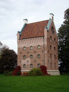 "Borgeby Slott, Skåne.  On the remnants of an Viking fortification from 980 AD, a ""Trelleborg"" built by Danish king Harald Bluetooth, stands this 600 years younger medieval stronghouse. The strategically located castle was burned in 1452 by the Swedes and in 1658 by the Danes."