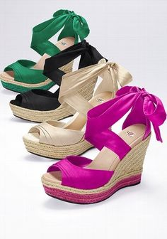 Ugg Wedges. Love the colors!